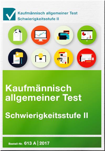 Cover Kaufmännisch allgemeiner Test Schwierigkeitsstufe 2