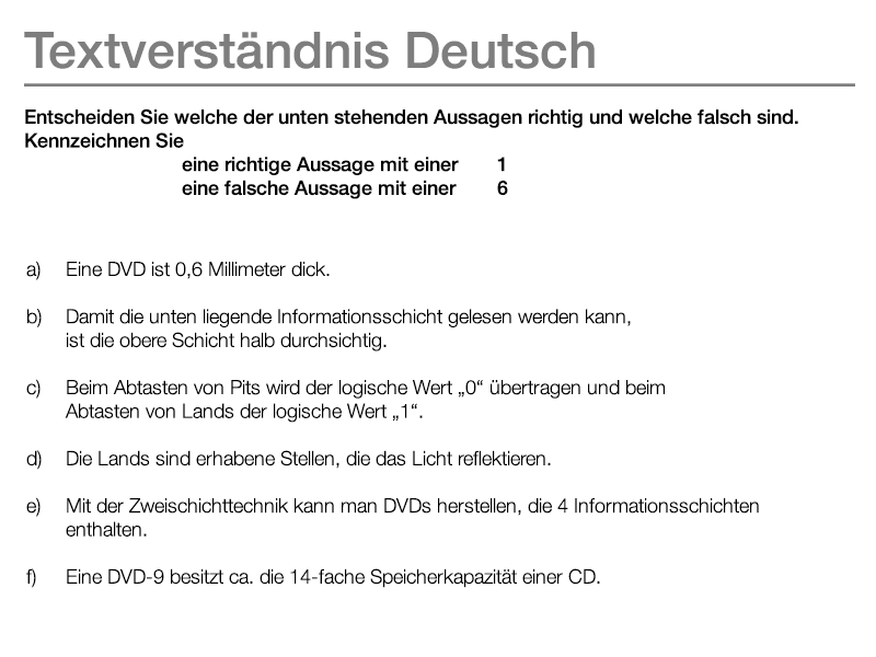 Beispielaufgabe Textverständnis Deutsch Eignungstests Ausbildung