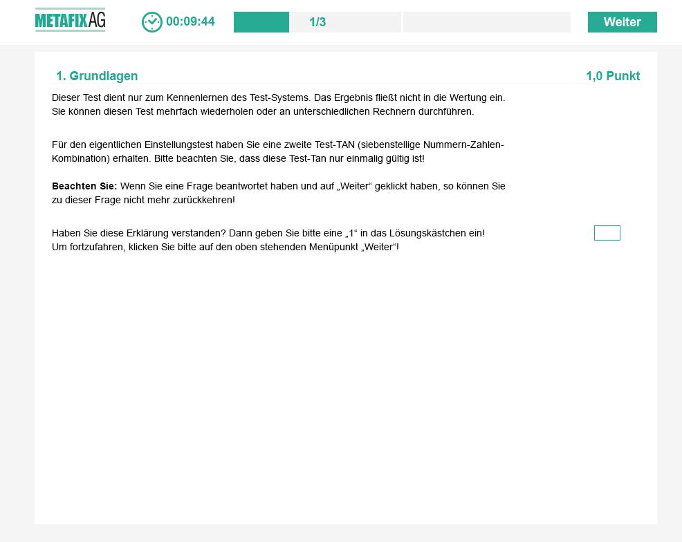 Testlayout Metafix AG