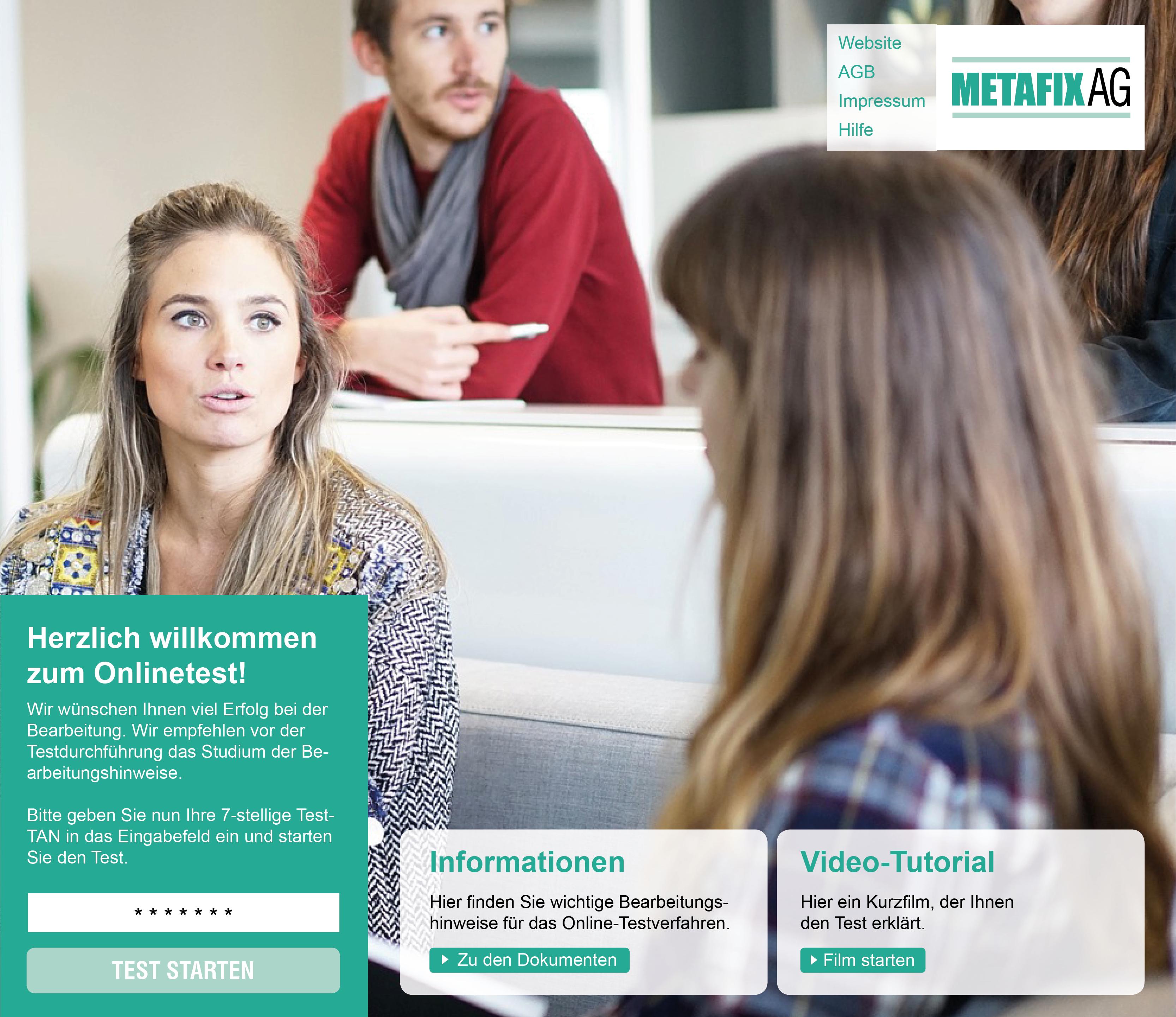 Teststartseite Metafix AG