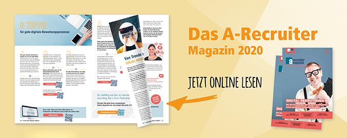 A-Recruiter Magazin 2020 - Jetzt online lesen!