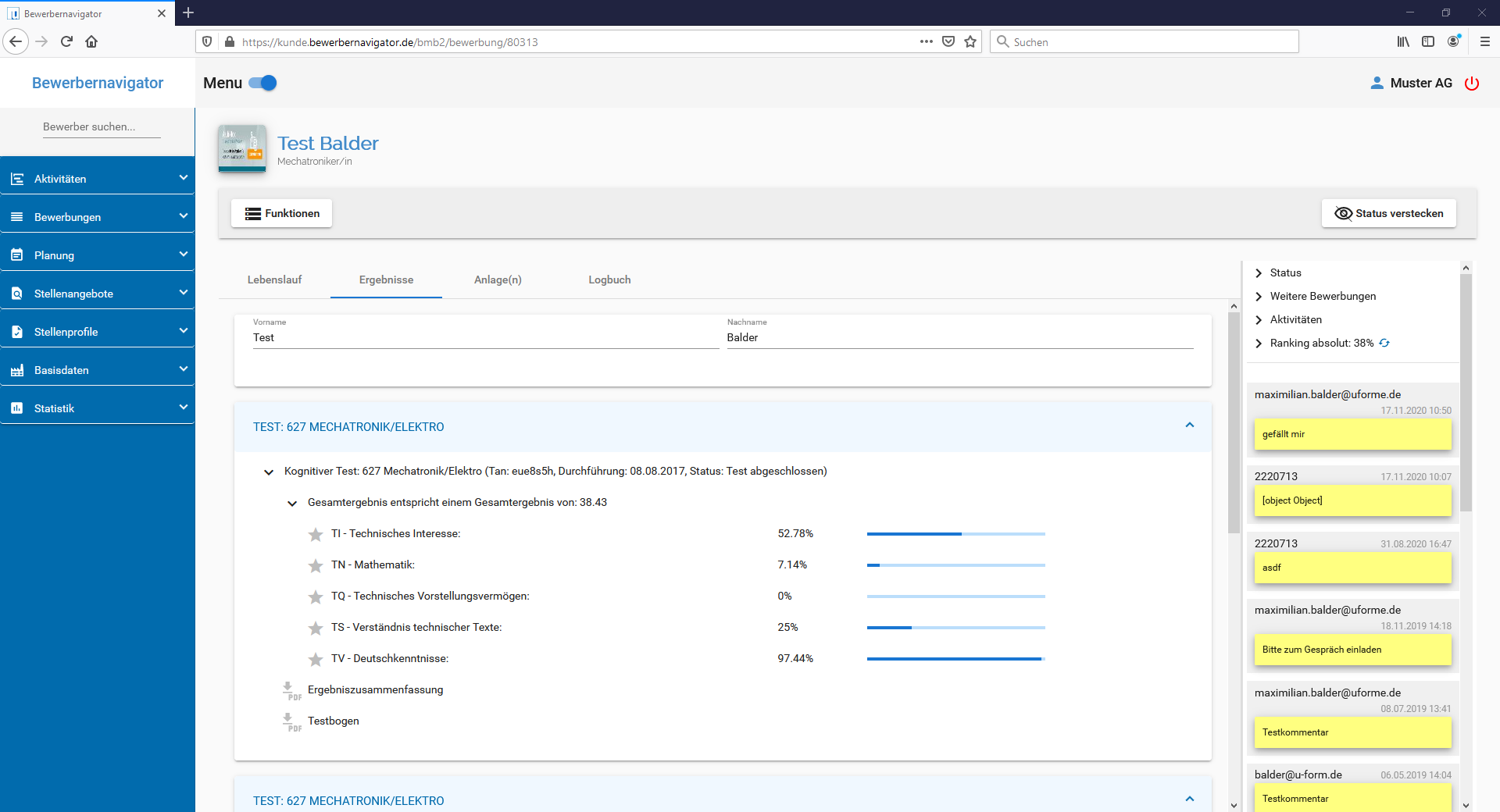 u-form Bewerbernavigator - Screenshot 4