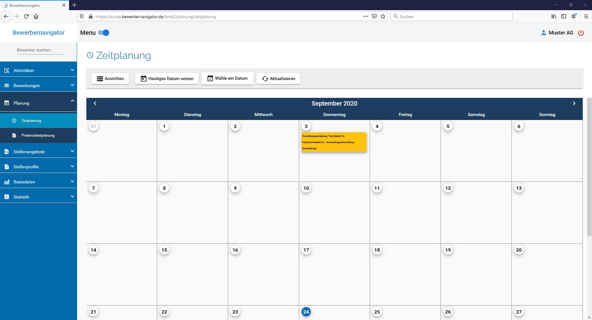 u-form Bewerbernavigator - Screenshot 6
