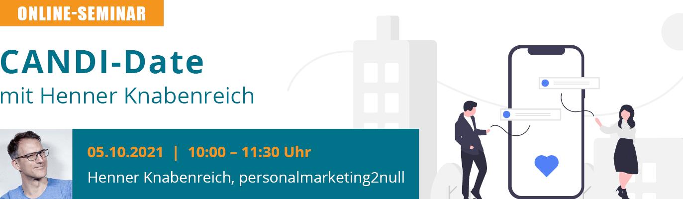 u-form Online-Seminar - CANDI-Date mit Henner Knabenreich
